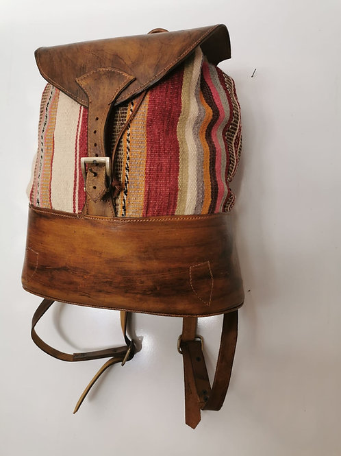LEATHER KILIM BACKPACK, GS-09