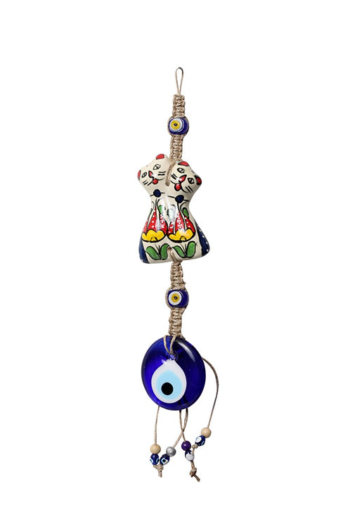 EVIL EYE WALL HANGING WITH TURKISH CERAMIC, 0021