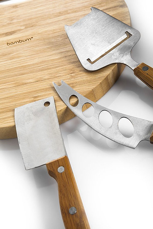 BAMBOO CHEESE SET FOR 4