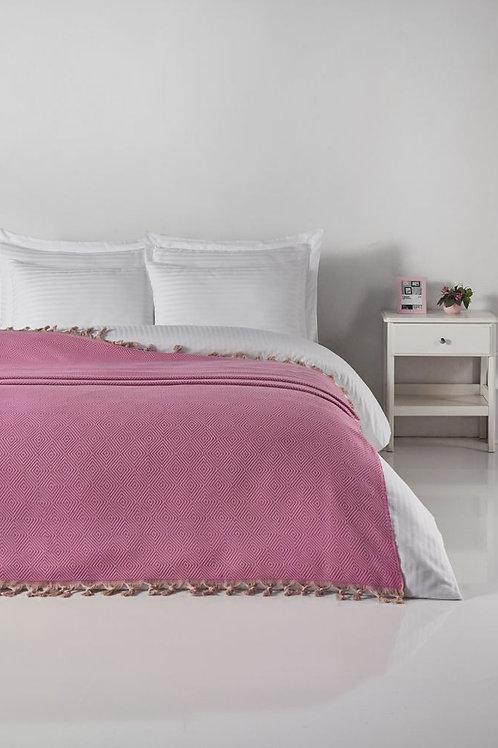 PESHTEMAL BED COVER, 0016, PINK