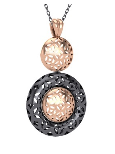 EXCLUSIVE HAREM NECKLACE, 925 STERLING SILVER PLATED