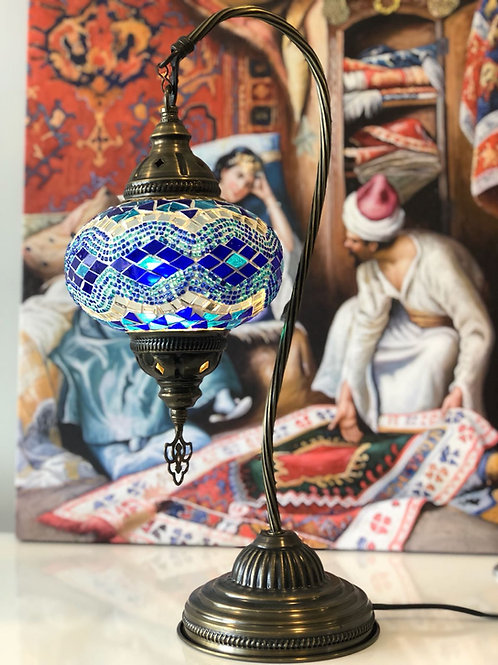 "10x ASSORTED MOSAIC SWAN TABLE LAMP, GLOBE SIZE: 12 CM (4.7"")"