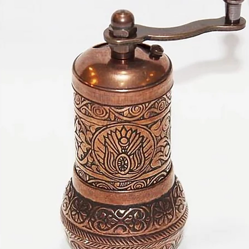 TURKISH COPPER GRINDER , COFFEE / SPICE GRINDER