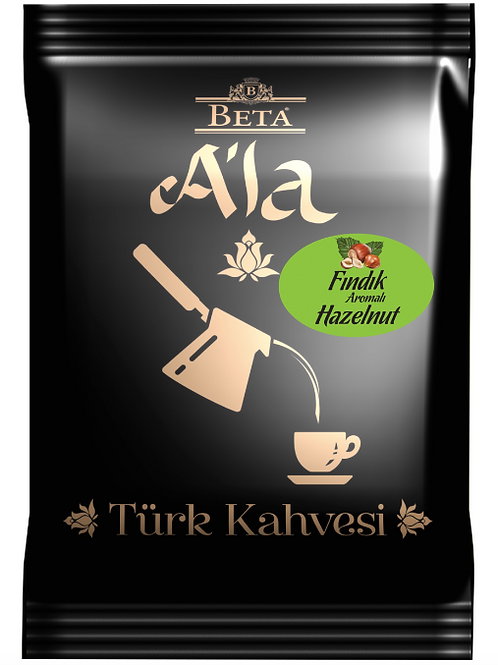 25 x TURKISH COFFEE WITH HAZELNUT FLAVOUR, 100 GR