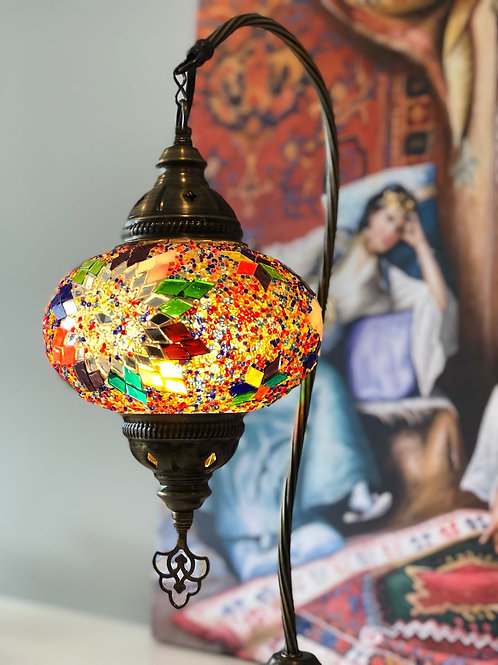 """10x ASSORTED MOSAIC SWAN TABLE LAMP, GLOBE SIZE: 22 CM (8.6"""")"""