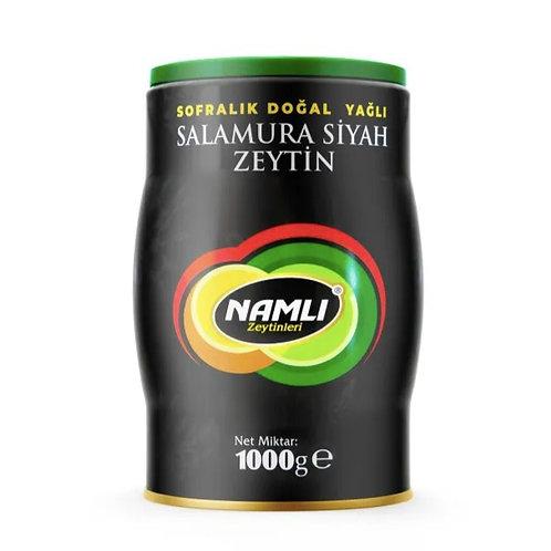 PREMIUM TURKISH BLACK SALAMORA OLIVE, 1 KG (2.2 lbs)