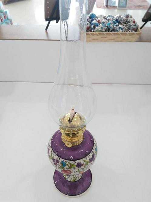 LARGE TURKISH CERAMIC GAS LAMP