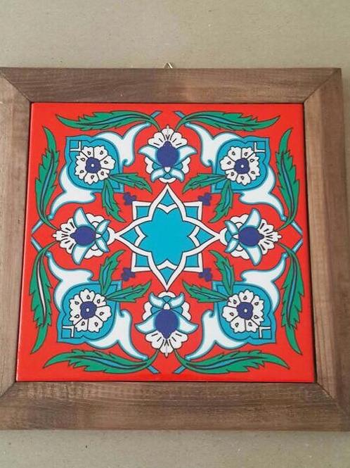 "TURKISH CERAMIC TILE, 25x25 cm ( 9.8 "" x 9.8 "" )"
