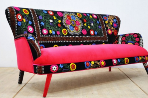 HANDMADE SUZANI COUCH, 3 SEATING