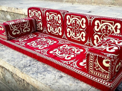 LARGE SEDIR CUSHION SET - TURKISH RESTAURANT / HOTEL DECOR