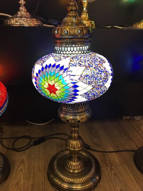 "LARGE TURKISH MOSAIC FLOOR LAMP, 65 cm (25.5"")"