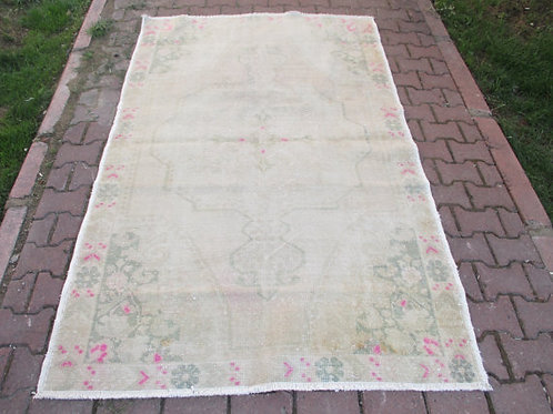 FADED OUSHAK RUG, 90 x 57 inches 227 x 144 cm