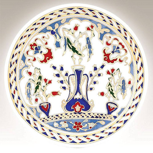 TURKISH PORCELAIN PLATE,10 CM,OTTOMAN MOTIF