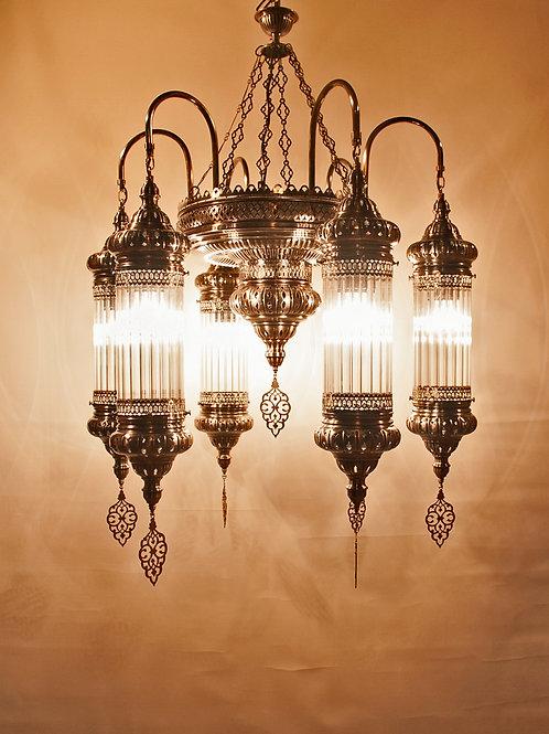 LARGE LUXURIOUS OTTOMAN CHANDELIER, 6 LAMPS