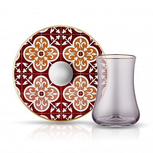 LUXURIOUS TURKISH TEA GLASS SET FOR SIX