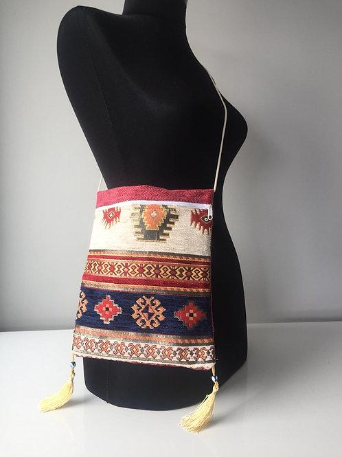 HANDMADE KILIM MESSENGER BAG, MULTI