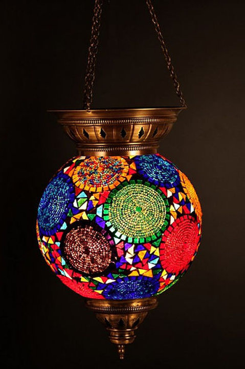 LARGE MOSAIC CEILING LAMP, 30 cm, CHEERFUL COLORS