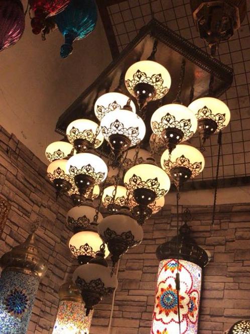 LUXURIOUS OTTOMAN CHANDELIER, 17 LAMPS