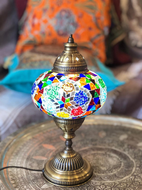 """10x ASSORTED MOSAIC TABLE LAMP, GLOBE SIZE 12 CM (4.7"""")"""