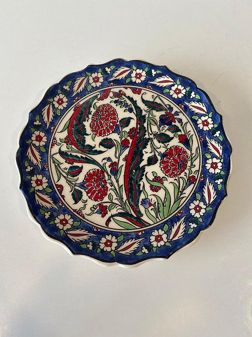 TURKISH CERAMIC PLATE, 18 CM, BLUE
