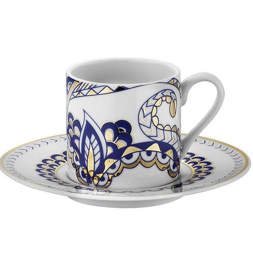 6x PORCELAIN TURKISH COFFEE SET FOR SIX, KP-008
