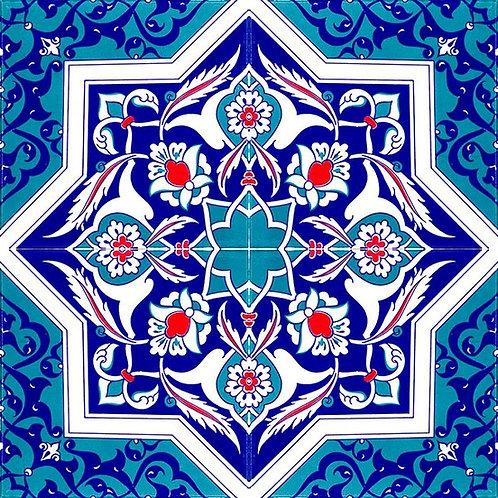"TURKISH CERAMIC TILE, 20 x 20 cm ( 7.8"" x 7.8"" ), 0031"