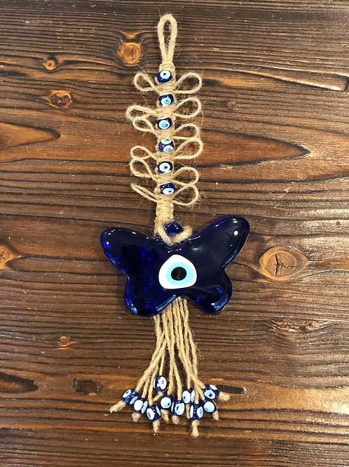 EVIL EYE BUTTERFLY HANGING