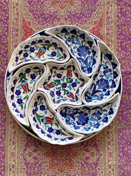 TURKISH CERAMIC BREAKFAST SET, MULTI 002
