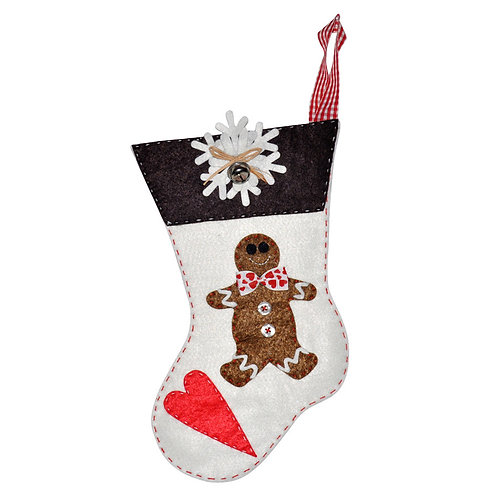 HANDMADE FELT CHRISTMAS STOCKING, 008