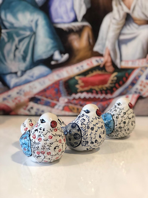 TURKISH CERAMIC BIRD SET OF THREE