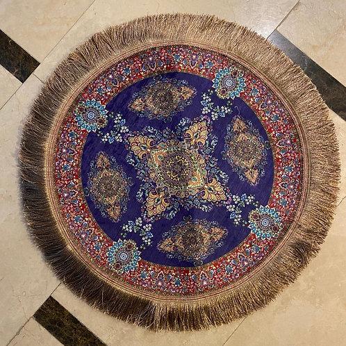 """ROUND TURKISH RUG, 50 x 50 cm ( 19.6 """" x 19.6 """" )"""
