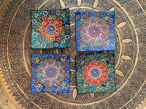 "TURKISH CERAMIC BOWL SET OF FOUR, 14 cm (5.5"")"