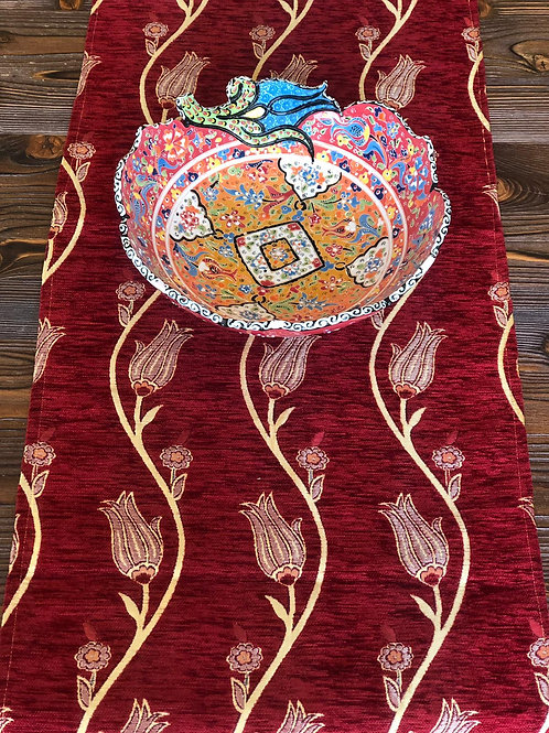 UNIQUE TABLE RUNNER, RED 002