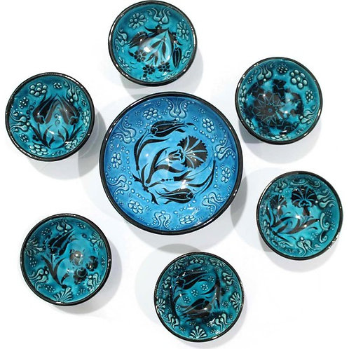 TURKISH CERAMIC BOWL SET OF SIX, 002