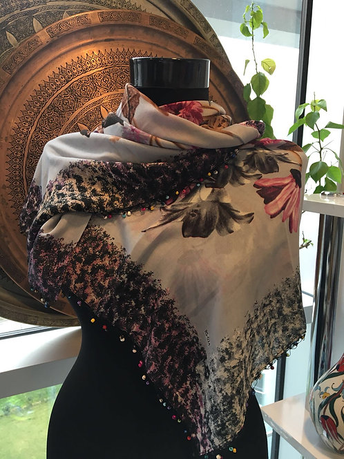 UNIQUE TURKISH SCARF, FLORALS