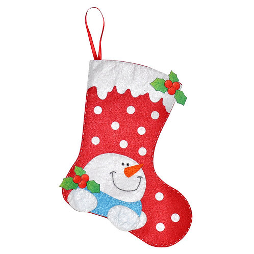 HANDMADE FELT CHRISTMAS STOCKING