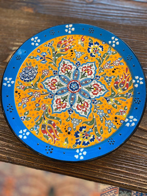TURKISH CERAMIC PLATE, 18 CM, BLUE