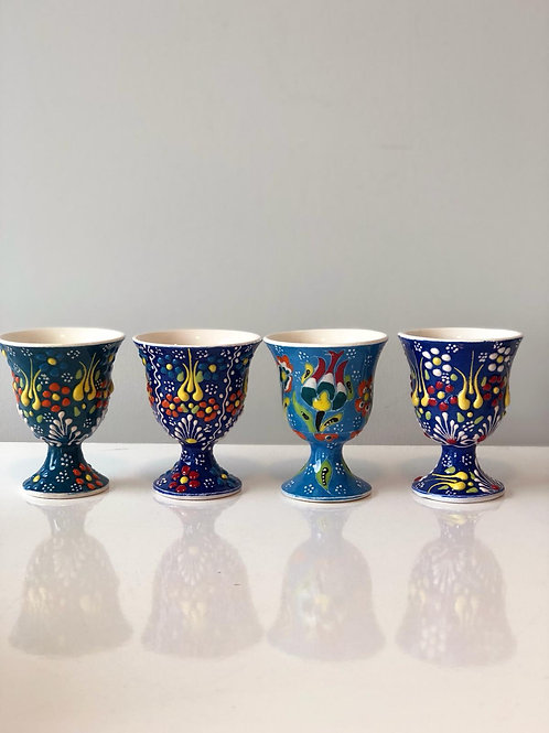 TURKISH CERAMIC EGG CUP SET OF FOUR 002