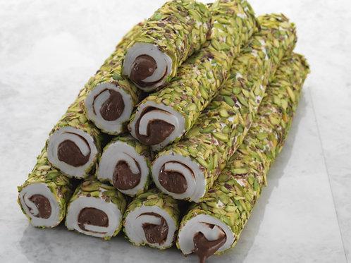 PISTACHIO COATED CHOCOLATE TURKISH DELIGHT, 500 gr (17.6 oz)