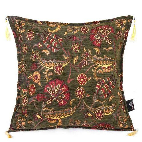"TURKISH ORIENTAL CUSHION, 45 x 45 cm (17""x 17"")"