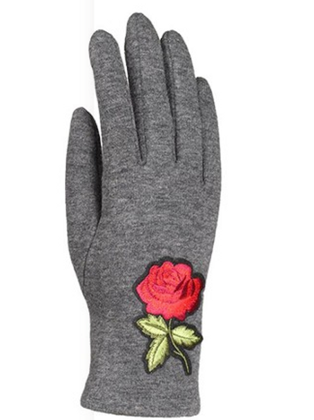 UNIQUE ROSE GLOVES, SCREEN TOUCH, 002