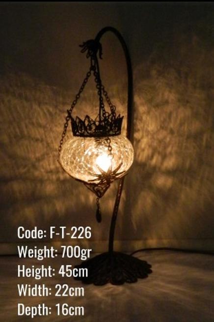 FILIGREE ART OTTOMAN TABLE LAMP, 002