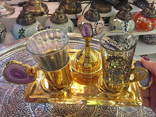 LUXURIOUS TURKISH COFFEE SET FOR ONE