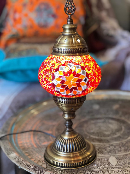 """30x ASSORTED MOSAIC TABLE LAMP, GLOBE SIZE 8 CM (3.1"""")"""