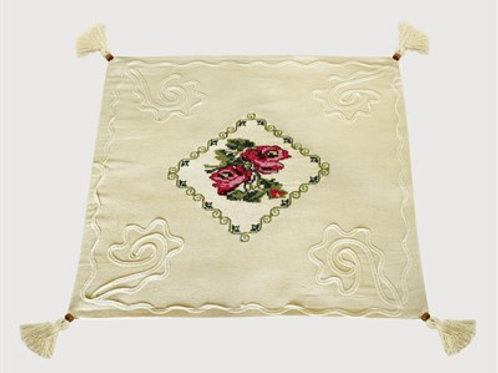 HANDMADE PILLOW WITH EMROIDERY DETAIL