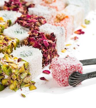 Mix of turkish delight rahat lokum isola