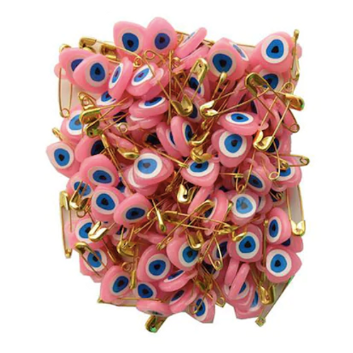 PINK EVIL EYE, 100 Pieces
