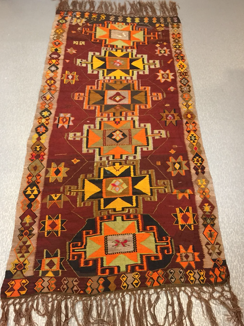 "UNIQUE TURKISH KILIM RUNNER, 286 x 146 cm ( 112 "" x 57 "" )"