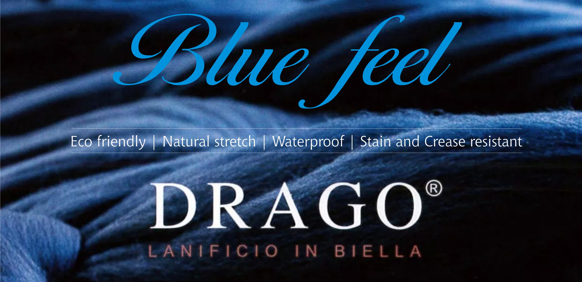 Drago Blue Feel Italian Fabrics