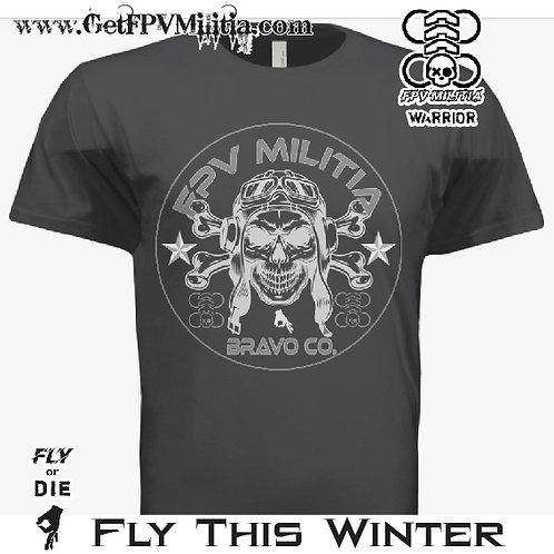 FPV Militia BRAVO COMPANY Comfort Tee (Black Edition)